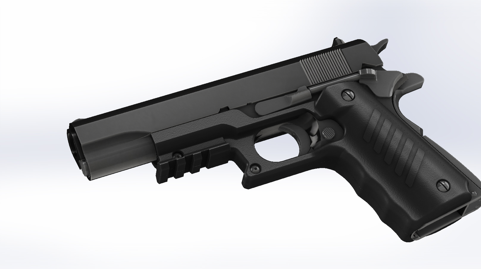 Polymer 1911 Grips with picatinny rail